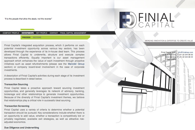 finial capital website internal page