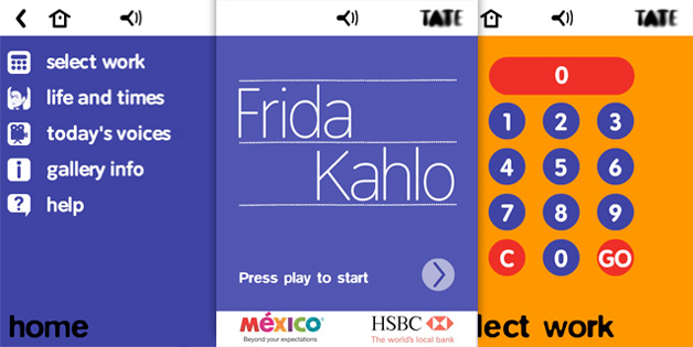 frida kahlo multimedia tour selected screens